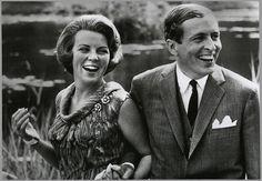 Beatrix en Claus op de dag van hun verloving, 28 juni 1965