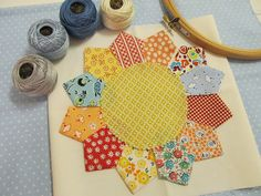 quilt block made with the Thimble Ruler by Bee in my Bonnet