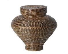 Nito Weave Lidded Urn