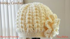 En este tutorial explico como hacer un gorro a crochet en punto puff en forma de espiga, paso a paso. How to crochet a winter cap in puff stitches in form of...