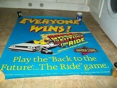 Back to the Future the ride universal studios hollywood promo poster (07/05/2014)