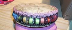 Recycled Cds made into a bobbin case