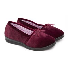 Womens/Ladies Plain Indoor Footwear/Slippers with Bow * Find out more about the great product at the image link.