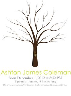 Personalized Baby Guestbook Tree Printable for Baby by MeckMom