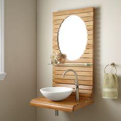 """24"""" Kyger Teak Wall Hung Vanity downstairs bathroom?"""