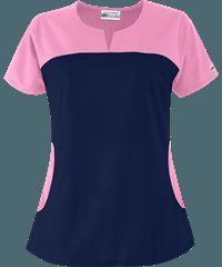 UA+Best+Buy+Rounded+Notch+Neck+Scrub+Top+ Look at pockets Cute Scrubs Uniform, Scrubs Outfit, Chef Dress, Doctor Scrubs, Greys Anatomy Scrubs, Medical Uniforms, Uniform Design, Medical Scrubs, Scrub Tops