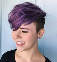 voluminous purple pixie