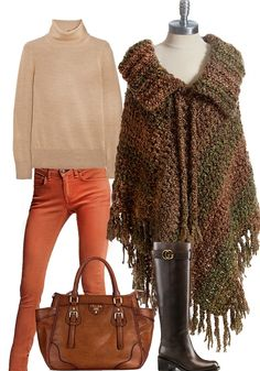 This is our dream Fall style. What do you think? You can find the poncho at www.crochethead.com