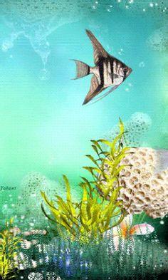 Underwater city, Underwater and Wallpaper art on Pinterest