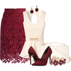 Beautiful deep red option for evening wear