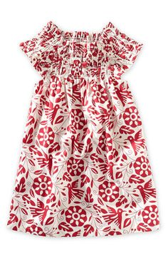 Birds of Paradise Dress Mexico  size 2 #TeaSummer Another adorable summer dress. The red birds on this are so cute and totally make this dress. Also love the scrunchy top and sleeves that stretch for longer wear
