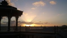 A stunning sunset, taken from Brighton seafront promenade on 16/10/12.