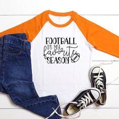 Kids Football Shirt Football is my Favorite Season Gameday | Etsy Kids Football Shirts, Custom Football, Football Design, Making Shirts, Girls Tees, Custom Shirts, Seasons, Etsy, Tops