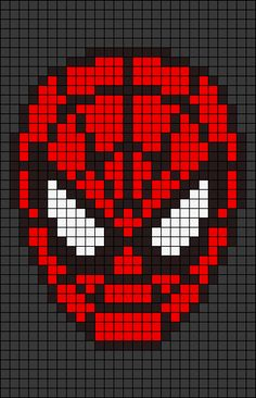 Alpha friendship bracelet pattern added by amazing spiderman far from home homecoming avengers marvel comics stan lee. Spiderman, Pixel Pattern, Pattern Art, Cross Stitch Designs, Cross Stitch Patterns, Disney Quilt, Broderie Simple, Graph Paper Art, Iron Beads