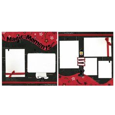 Magic Moments - Two Premade 12x12 Scrapbook Pages $26.95