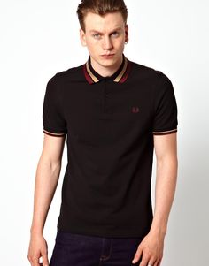 72714d03 Fred Perry Bold Tipped Polo. Collar Tips, Polo T Shirts, Lakme Fashion Week