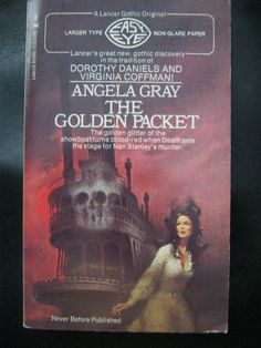 VINTAGE 1971 LANCER GOTHIC ROMANCE MYSTERY ANGELA GRAY THE GOLDEN PACKET
