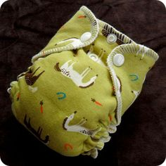FREE: Pattern by BaaBaaBaby for sewing a Newborn fitted cloth diaper.