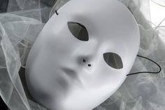 Blank Masks White Full Face Adult $3.49 each / 3 for $2.99 each