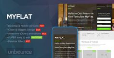 Discount Deals MYFLAT - Real Estate Unbounce Templateonline after you search a lot for where to buy