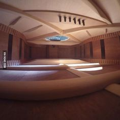 The inside of this guitar looks like a nice big room