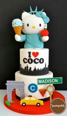 NYC Hello Kitty cake