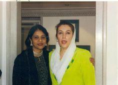 Subha Rajan with Benazir Bhutto