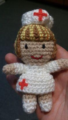 Broche enfermera mechas
