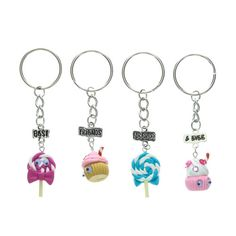4 Pack Best Friends Forever and Ever Keyrings