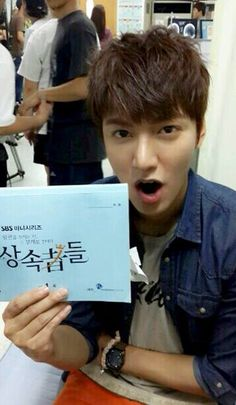 Lee Min Ho . The Heirs.. First filming day