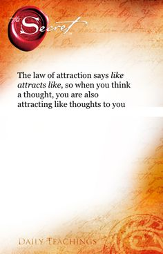 The Secret ~ Law of Attraction ❤SP
