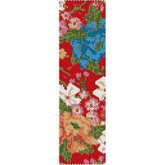 Floral Pattern 4 Peyote Bead Pattern, Bracelet Cuff, Bookmark, Seed Beading Pattern Miyuki Delica Size 11 Beads - PDF Instant Download by SmartArtsSupply on Etsy
