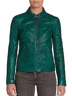 Cropped Leather Jacket Dolce & Gabbana