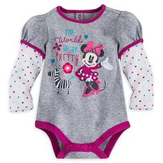 Minnie Mouse Double-Up Disney Cuddly Bodysuit for Baby   Disney Store