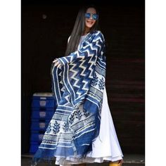 Shop this Glamorous Blue And White Colored Salwar Suit from fresh online ethnic shopping website, Daizoa providing trendiest and fresh collections in women's ethnic suits sets at best price with COD facility all over India. Indian Attire, Indian Ethnic Wear, Ethnic Outfits, Indian Outfits, Pakistani Dresses, Indian Dresses, Oufits Casual, Casual Dresses, Maxi Dresses