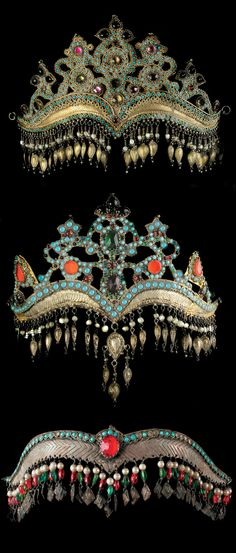 Uzbekistan | Jewellery pieces from the collection of the Museum of Applied Arts | 19th - 20th century