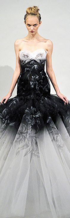 Marchesa* the dress amazing! The model....seriously, HORRID''*