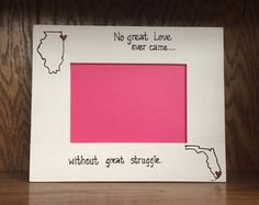 HORIZONTAL- State to State Picture Frame- Long Distance relationship on Etsy, $28.00
