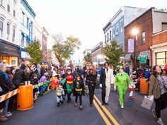 About an hour north of New York City, the town of Nyack hosts the annual Nyack Halloween Parade where more than 20,000 people line Main Street each October for the festive family-friendly event.