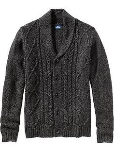 Blake 3x Mens Wool-Blend Cable-Knit Cardis