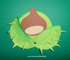 Inseriamo un simpatico lavoretto autunnale: castagna con riccio. Il simbolo più tipico di questo periodo è appunto la castagna.