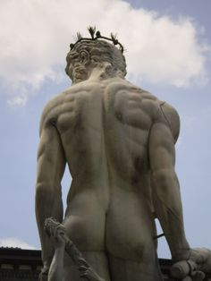 Neptune!  One of my favorite sculptures in Florence. Photo by Barbara Angle