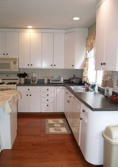 Paint Over 80s Laminate Cabinets