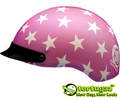 Tortugaz® Universal DOT Motorcycle Bike Helmet Cover Protector Pink with Stars