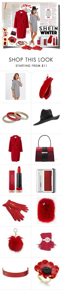 """SHEIN Winter Essentials"" by emperormpf ❤ liked on Polyvore featuring Couture Colour, Balmain, Philip Treacy, MaxMara, Prada, Max Factor, Clinique, Emanuel Ungaro, Wild & Woolly and Michael Kors"