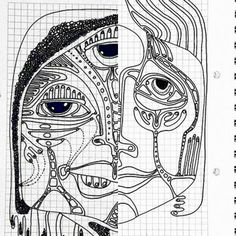 #coloraida #inkaida #inkonpaper #inkdrawingonpaper #ink #drawing #faces #abstract #linedrawing #lineart #doodle #sketch #selftaught #blackandwhite #contour #contourdrawing #simetry #instadraw #instaink