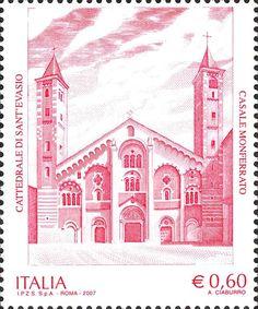 2007 - Patrimonio artistico e culturale italiano: Cattedrale di S.Evasio, risalente al XII secolo, Casale Monferrato (Alessandria)