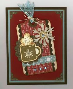 Created by Carlene Prichard: Chatterbox Creations-1.blogs.... 11-18-13 - Christmas & Hot Chocolate Go Together - Tag Card #5! (Inspired by Christmas Tags by Heidi Gonzales). See blog for ingredient recipe.