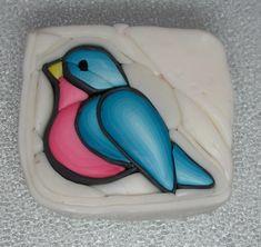 Polymer Clay Bluebird Cane by auntgriz, via Flickr