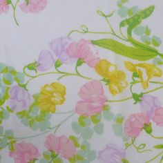 vintage fabric fat quarter pastel floral with by sosovintage, $2.50